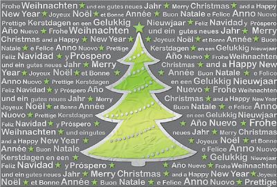 Internationale pers nliche weihnachtsgr e for Text weihnachtskarte englisch
