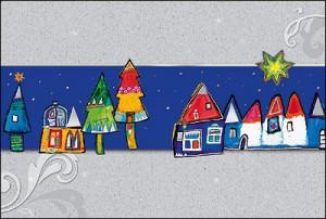 Spenden-weihnachtskarten für einen guten Zweck