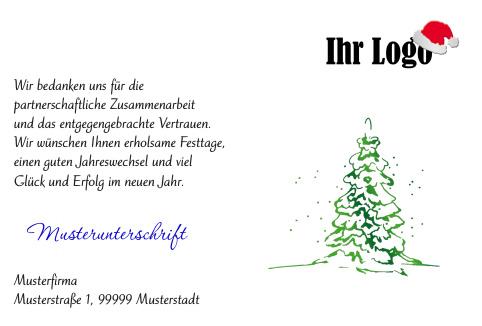 Deko-Elemente in Weihnachtskarten