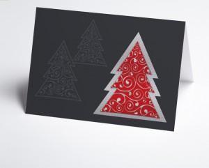 moderne Weihnachtskarte