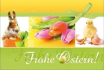 Osterkarte Frohe Ostern