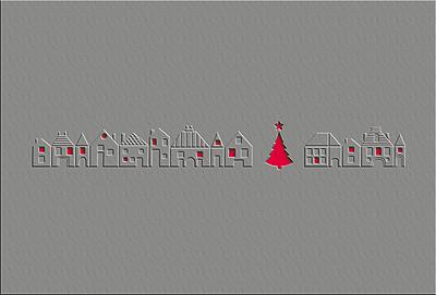 Weihnachtskarte mit Blindprägung
