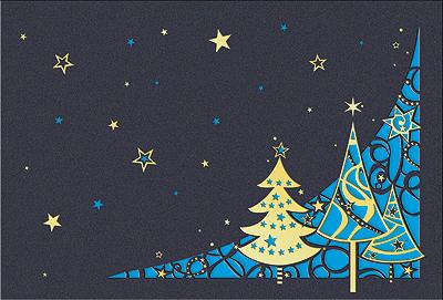 Edle Weihnachtskarten
