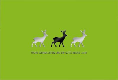 Weihnachtskarten im Trend 2014 Rentiere
