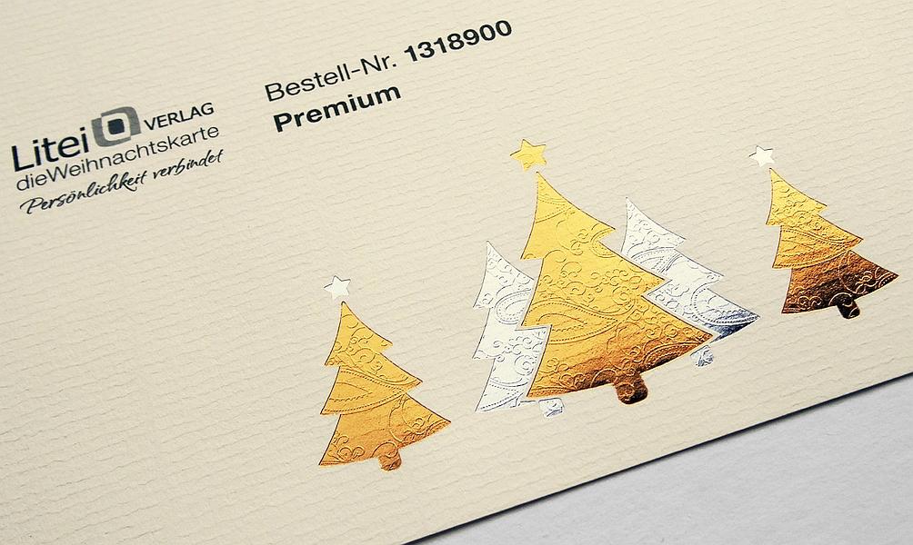 Spezielles Briefpapier, zwei Heißfolienprägungen