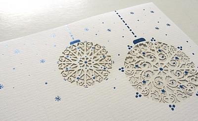 weihnachtsbriefe wie aus briefpapier durch veredelung. Black Bedroom Furniture Sets. Home Design Ideas